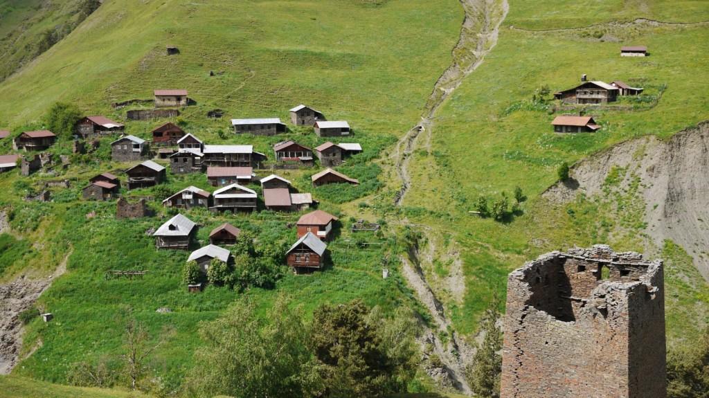 Jvarboseli village in Gometsari Valley Tusheti