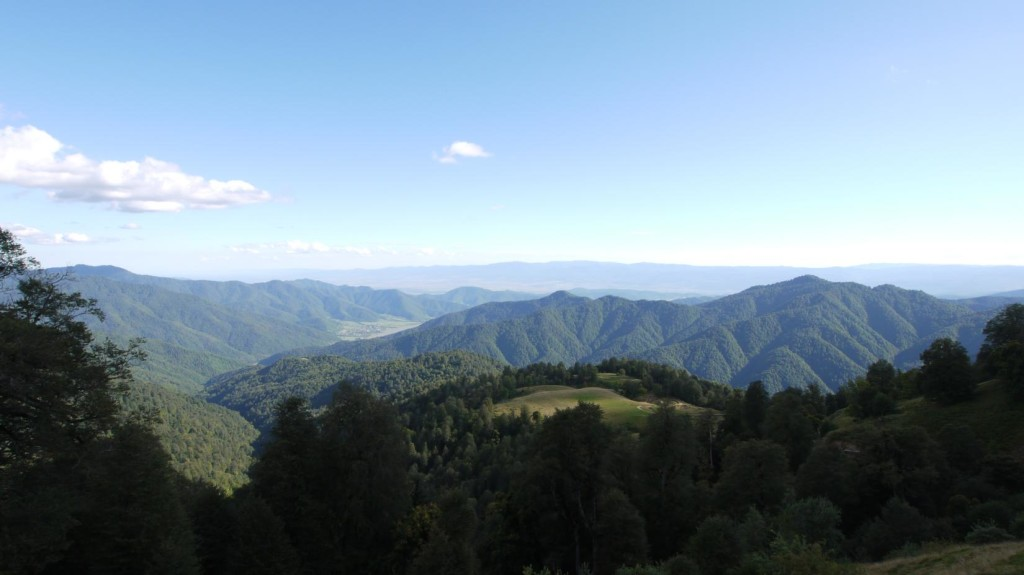 Tbataban mountain looking down to Pankisi Valley