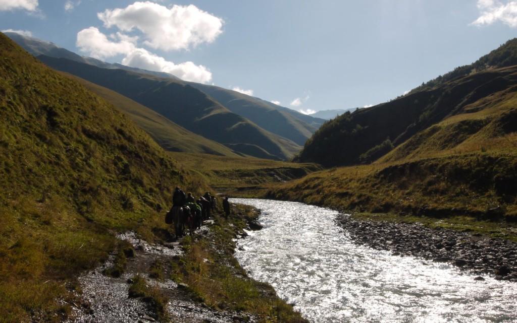 Tusheti Alazani River in Gometsari Valley Tusheti