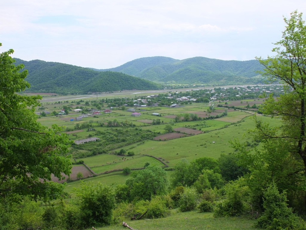 View of Duisi village from hills near Jokolo