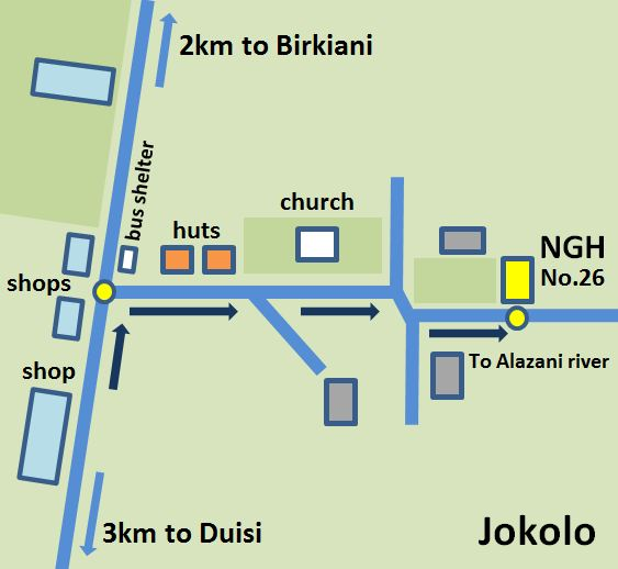 Map of Jokolo village in Pankisi valley