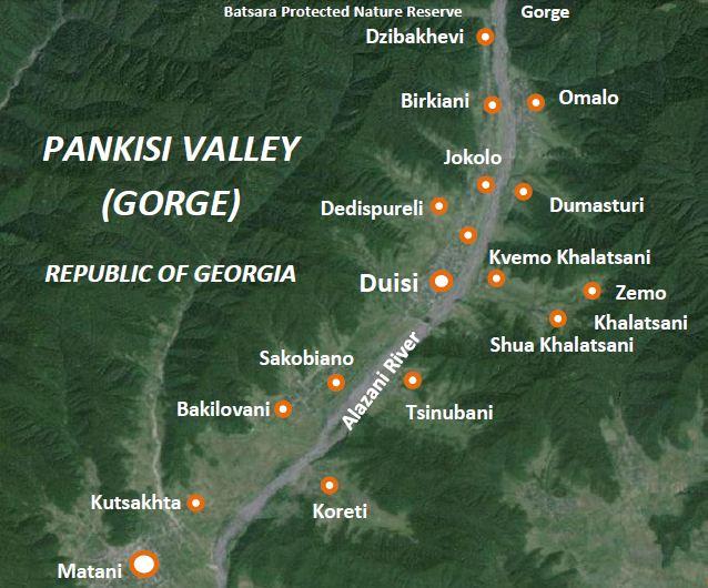 Pankisi Valley Map