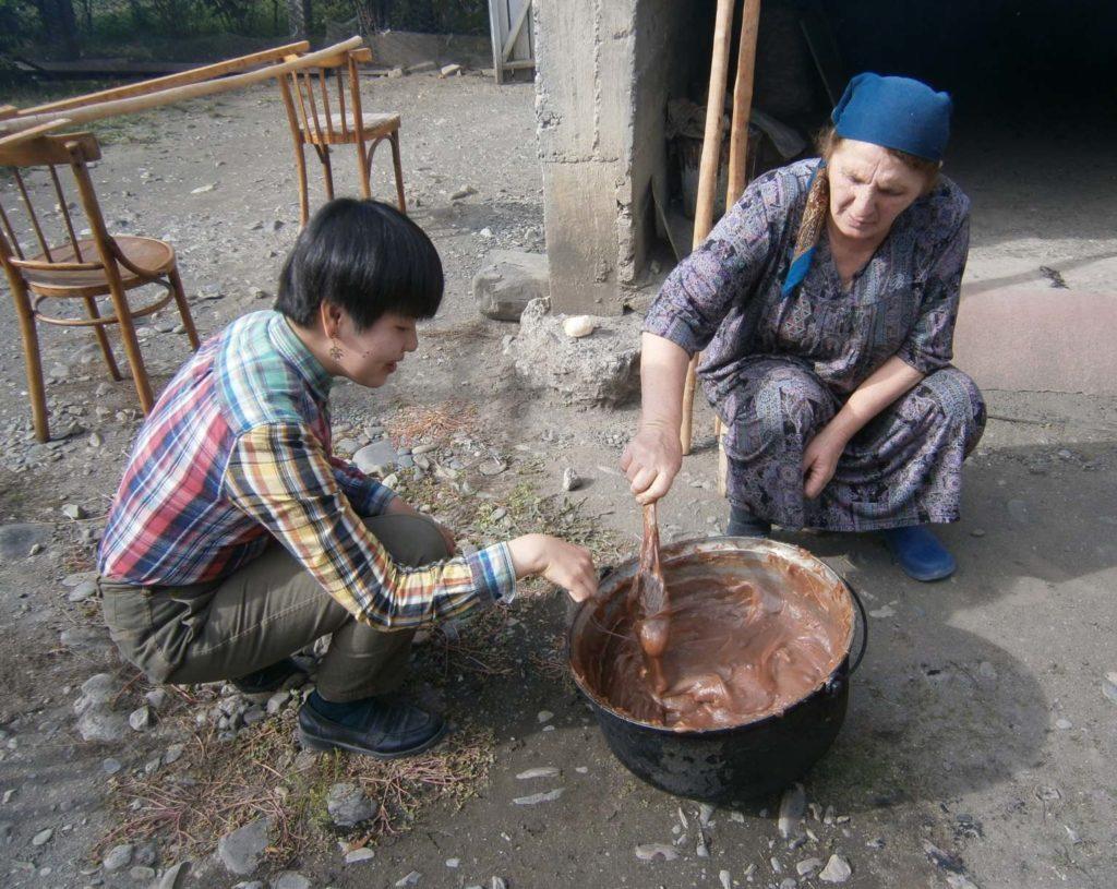 Mixing tatara