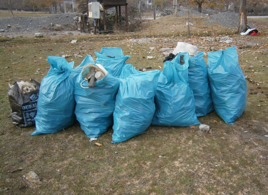 Bags full of rubbish
